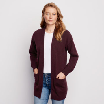 Cashmere Open Front Cardigan Sweater -  image number 0