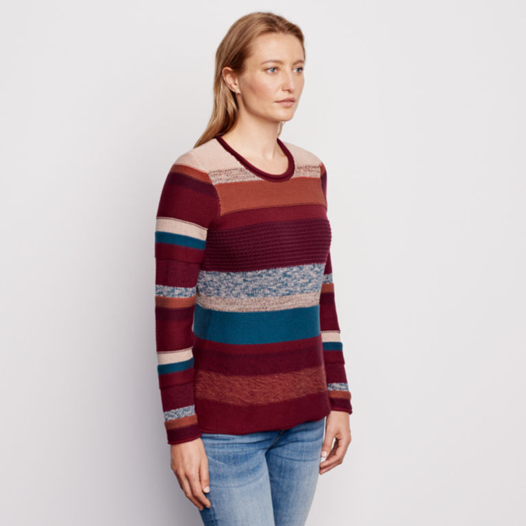 Mixed Stripe Roll Neck Sweater -  image number 1