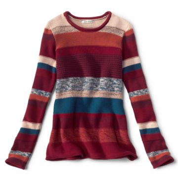 Mixed Stripe Roll Neck Sweater -  image number 0