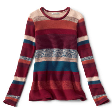 Mixed Stripe Roll Neck Sweater -