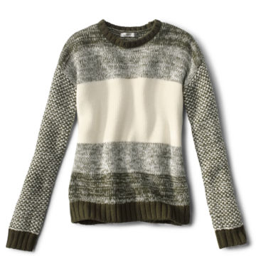 Merino Marled Colorblock Sweater -  image number 0