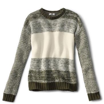 Merino Marled Colorblock Sweater -