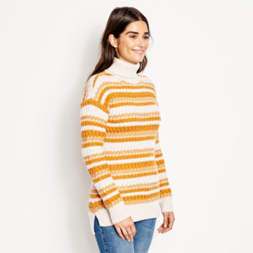 Merino Striped Tunic Sweater -  image number 1