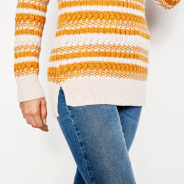 Merino Striped Tunic Sweater -  image number 4