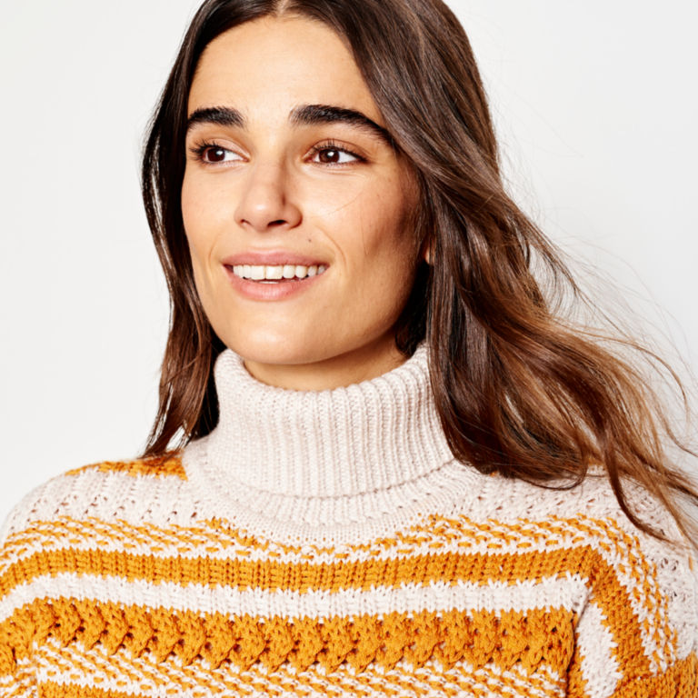 Merino Striped Tunic Sweater -  image number 3