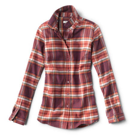 A burgundy plaid shirt