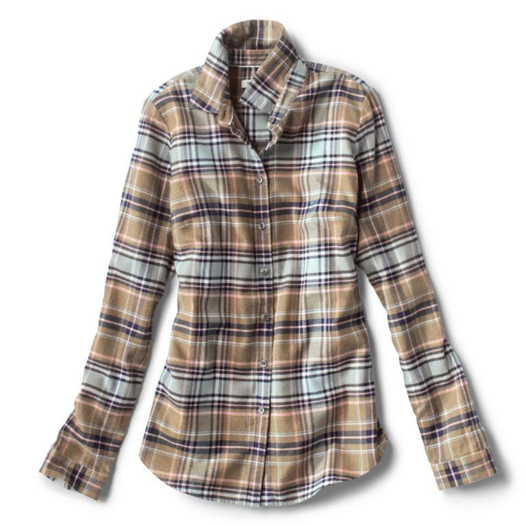 Lodge Flannel Plaid Shirt - SOFT SAGE PLAID image number 0
