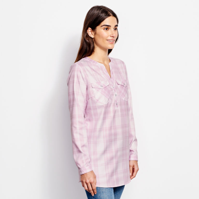 Wrinkle-Free Popover Patterned Tunic -  image number 1