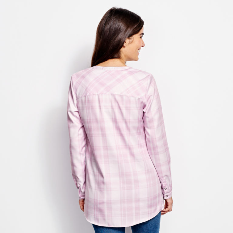 Wrinkle-Free Popover Patterned Tunic -  image number 2
