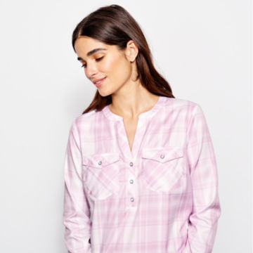 Wrinkle-Free Popover Patterned Tunic -  image number 3