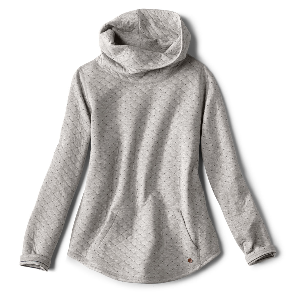 Double Faced Quilted Cowl Sweatshirt - image number 0