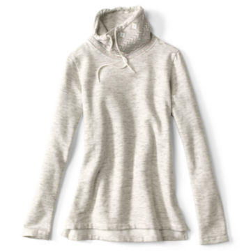Jacquard Cowl Supersoft Sweatshirt - HEATHERED GRAY image number 0