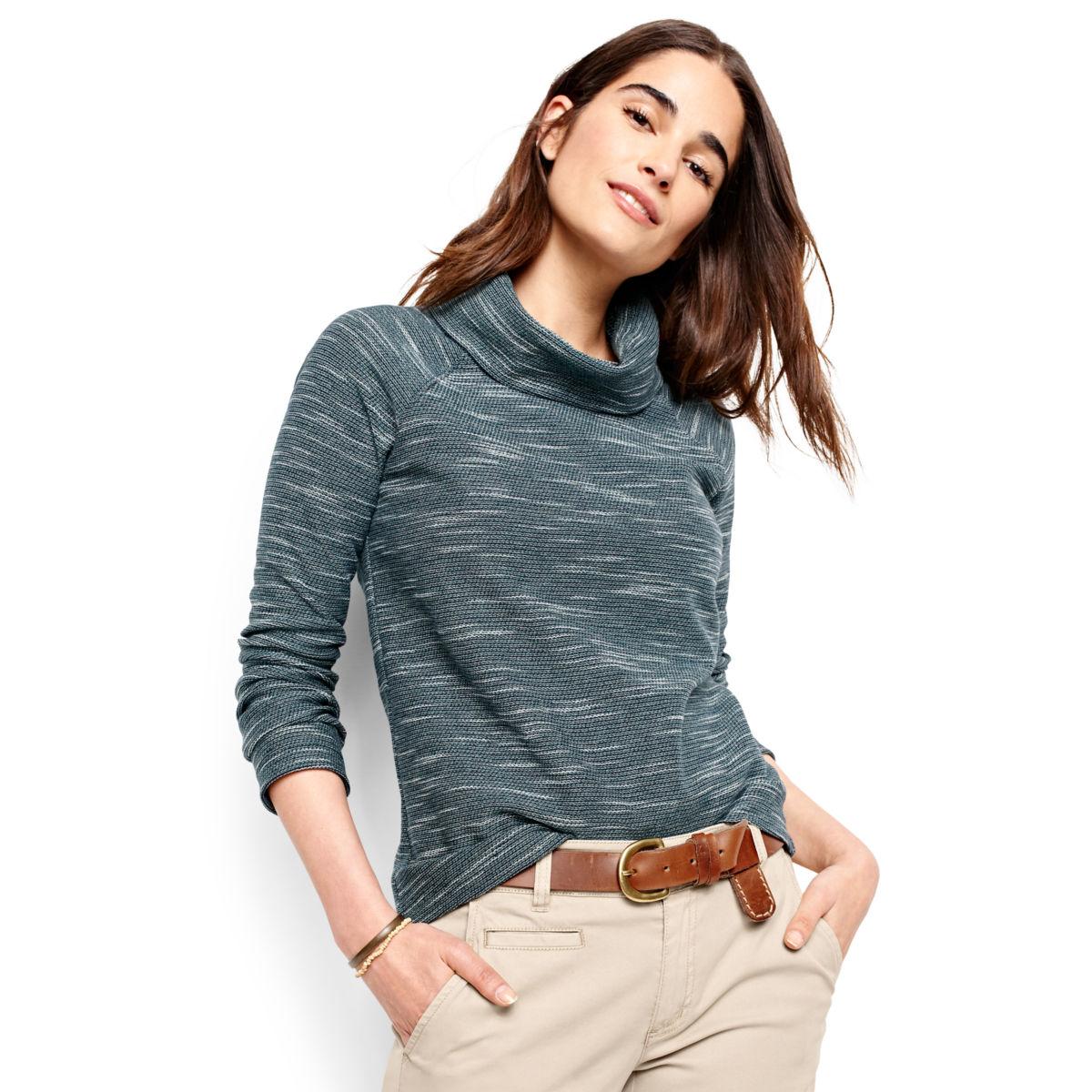 Cowlneck Multi Terry Sweatshirt - image number 0