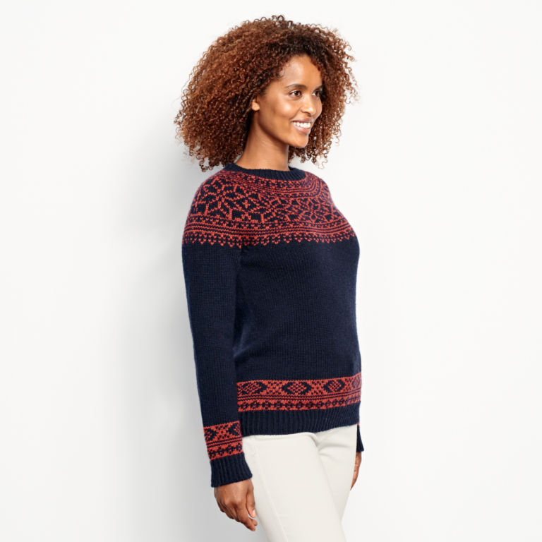Classic Fair Isle Sweater - NAVY/SPICE image number 2