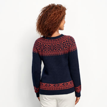 Classic Fair Isle Sweater - NAVY/SPICE image number 3