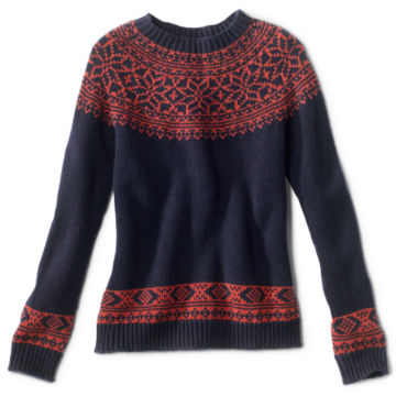 Classic Fair Isle Sweater - NAVY/SPICE image number 0