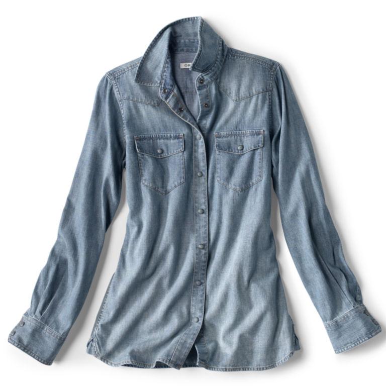 Washed Indigo Denim Shirt -  image number 3