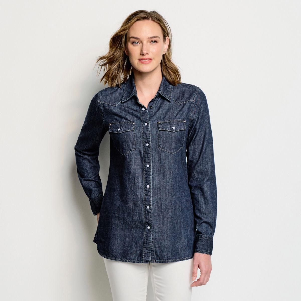 Washed Indigo Denim Shirt - image number 0