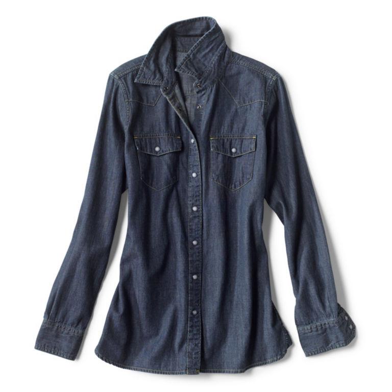 Washed Indigo Denim Shirt -  image number 4