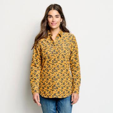 Washed Printed Corduroy Shirt -  image number 0