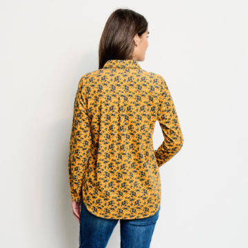 Washed Printed Corduroy Shirt -  image number 2