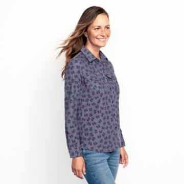 Washed Printed Cord Shirt -  image number 1
