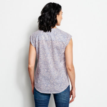Printed Pintucked Short-Sleeved Shirt -  image number 2
