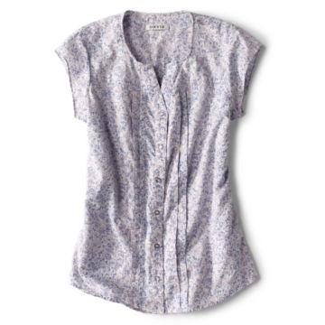 Printed Pintucked Short-Sleeved Shirt -  image number 4