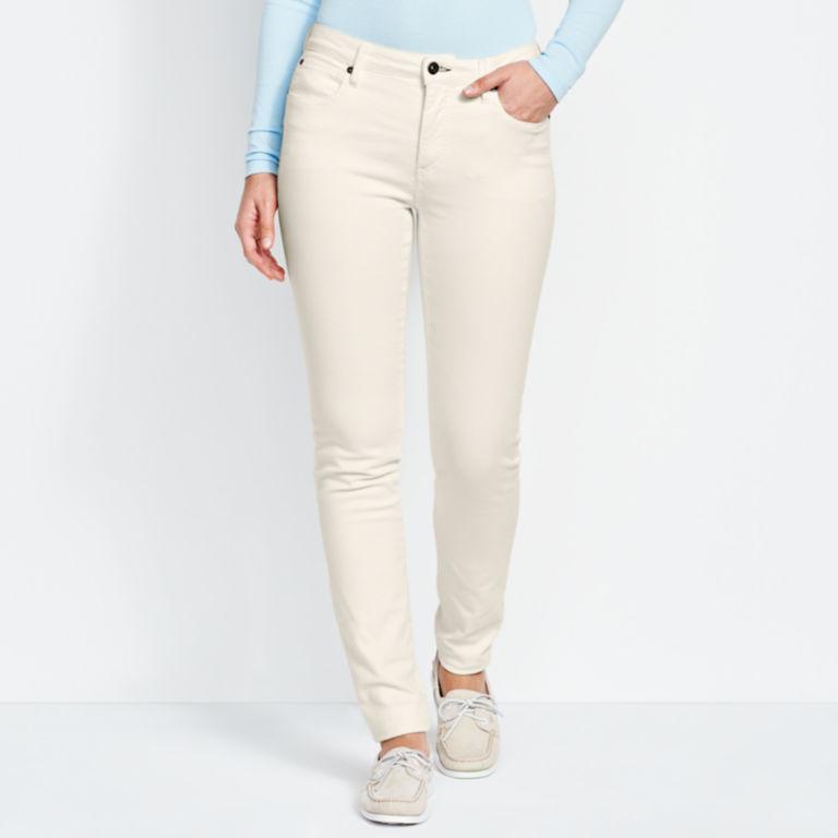 1856 Stretch Denim Skinny Jeans - WHITE image number 0