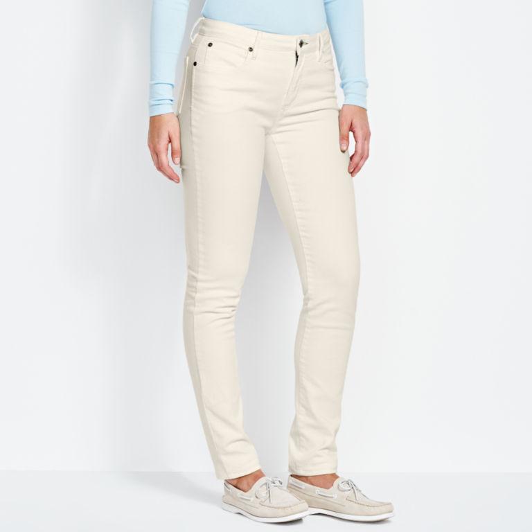 1856 Stretch Denim Skinny Jeans - WHITE image number 1