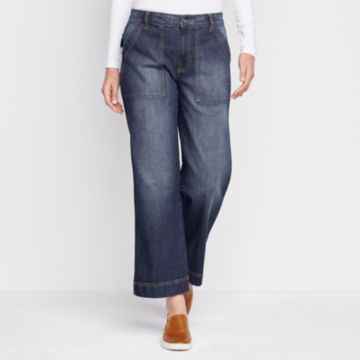 Orvis Wide Leg Cropped Jean -  image number 0