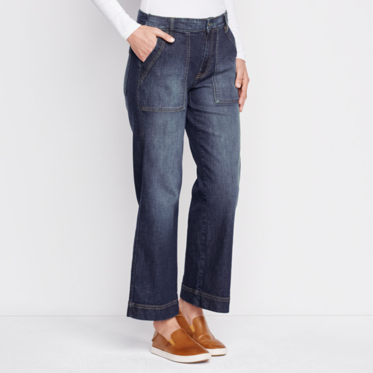 Orvis Wide Leg Cropped Jean -  image number 1