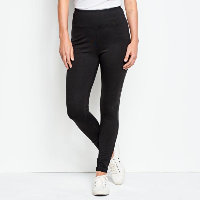 Journey Sport Knit Leggings - BLACK image number 1