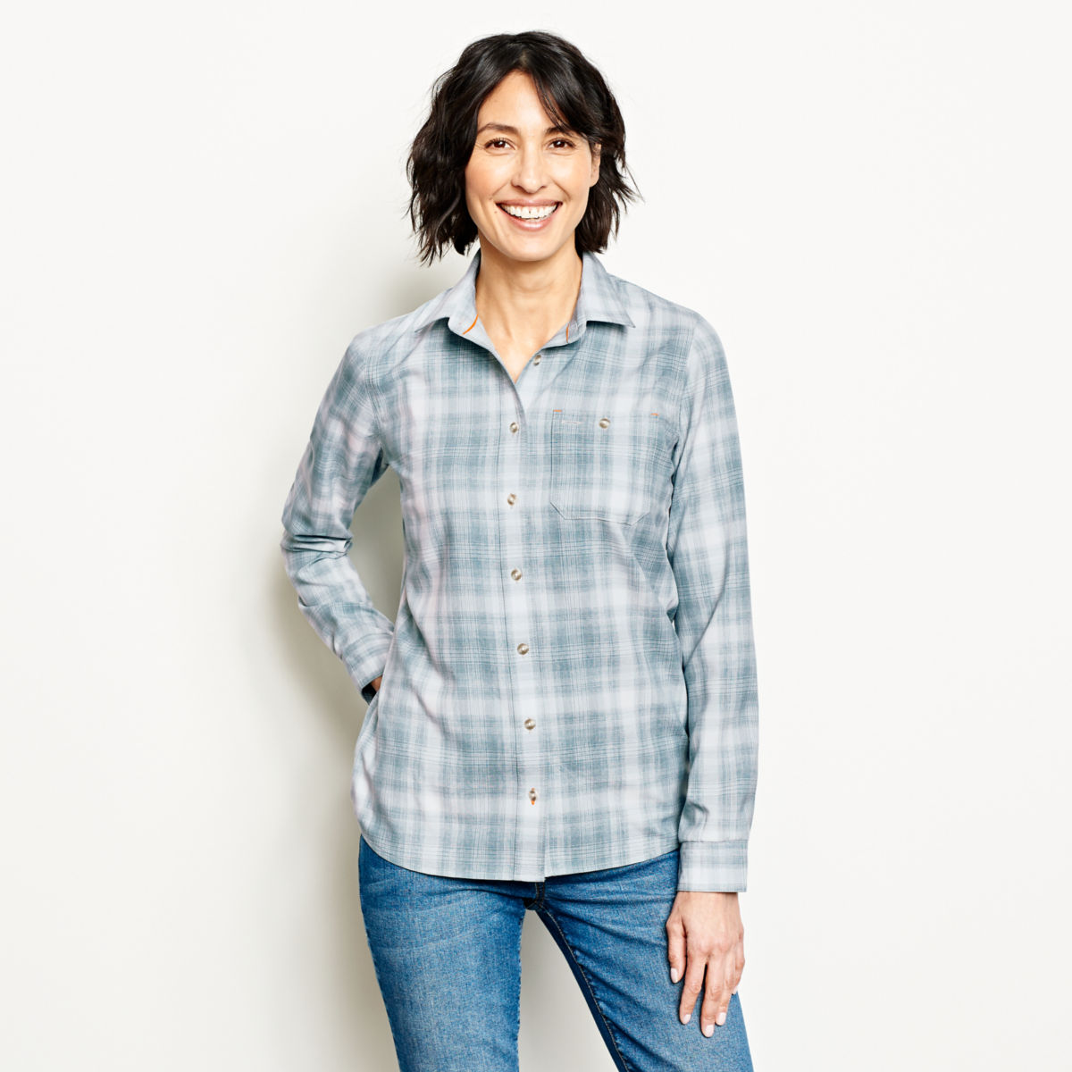 Tech Chambray Plaid Work Shirt - image number 0