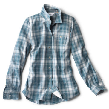 Women's Tech Chambray Work Shirt - PEACOCK BLUE