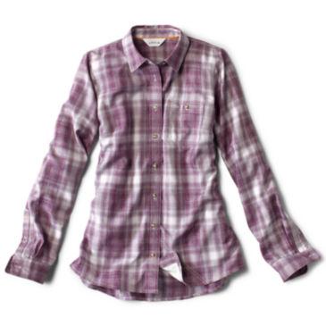 Women's Tech Chambray Work Shirt - WINE BERRY