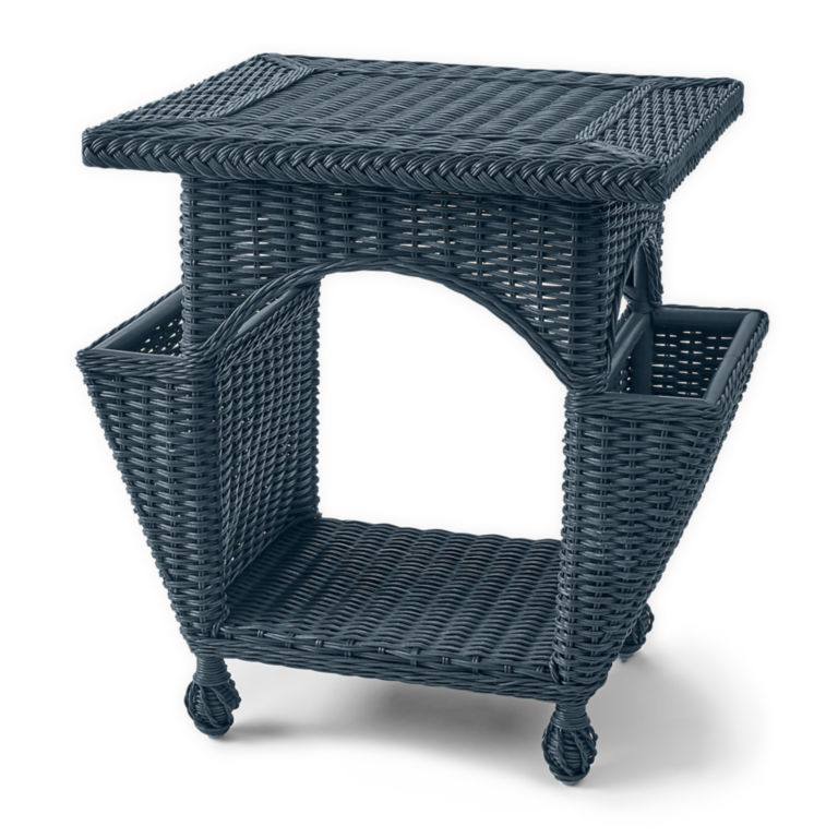 Indoor Wicker Chair And Reading Table - NAVY image number 0