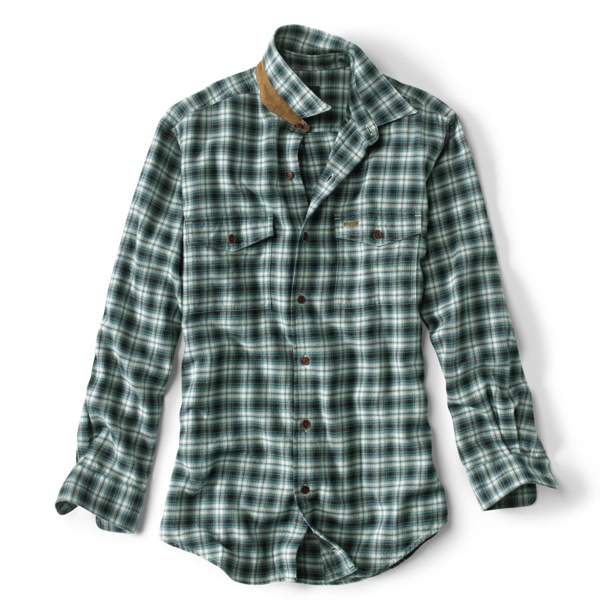 Fairbanks Ombré Plaid Long-Sleeved Shirt - BLUEimage number 0