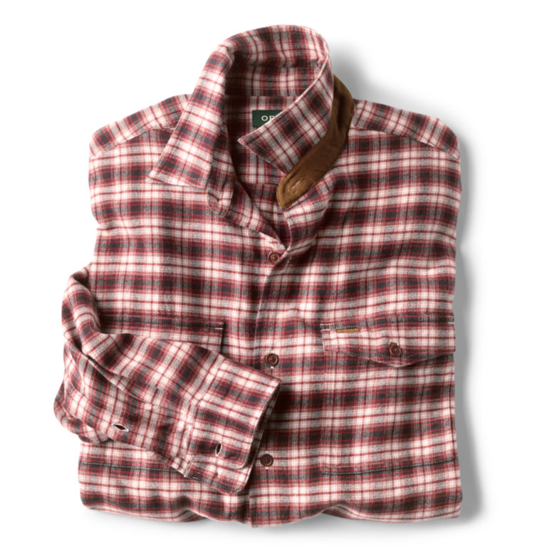 Fairbanks Ombré Plaid Long-Sleeved Shirt - RED image number 1