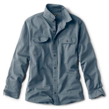 Officer's Twill Long-Sleeved Shirt - STORM BLUE image number 0