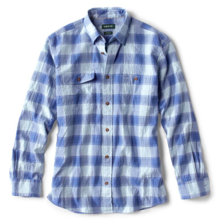 Crushed Herringbone Long-Sleeved Shirt -  image number 0