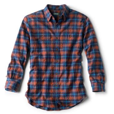 Crushed Herringbone Long-Sleeved Shirt -