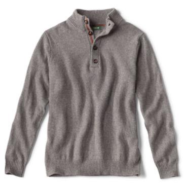 Merino/Cotton Quarter-Button Sweater -