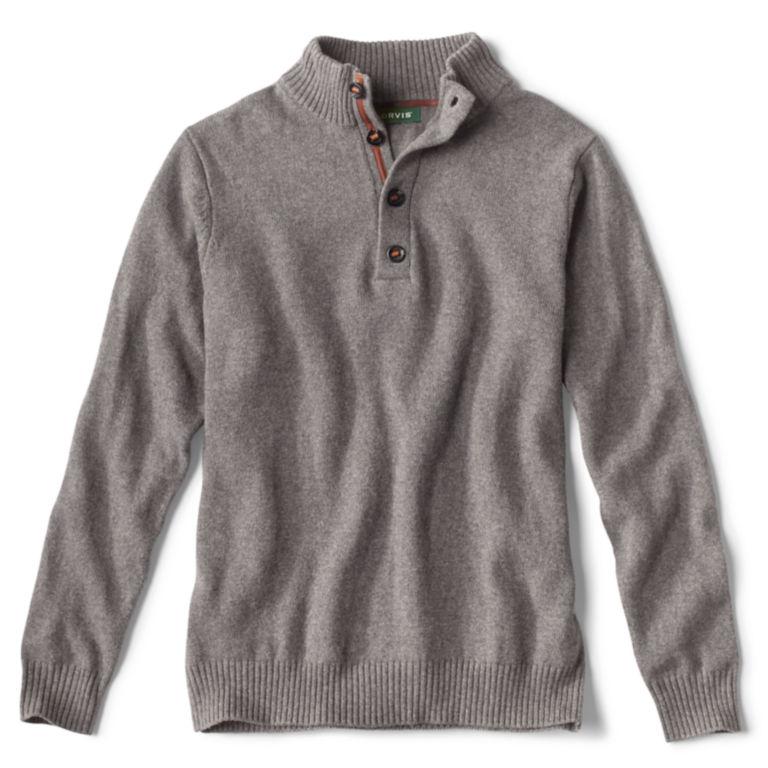Merino/Cotton Quarter-Button Sweater -  image number 0