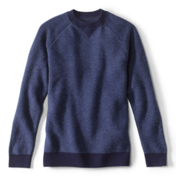 Wool/Cashmere Two-Tone Notch Crew -  image number 0