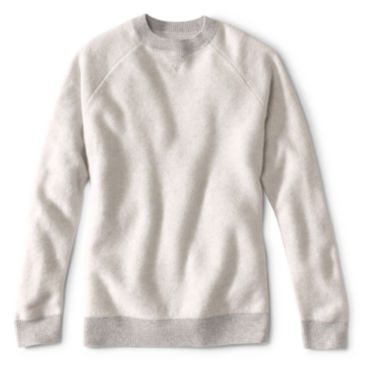 Wool/Cashmere Two-Tone Notch Crew -