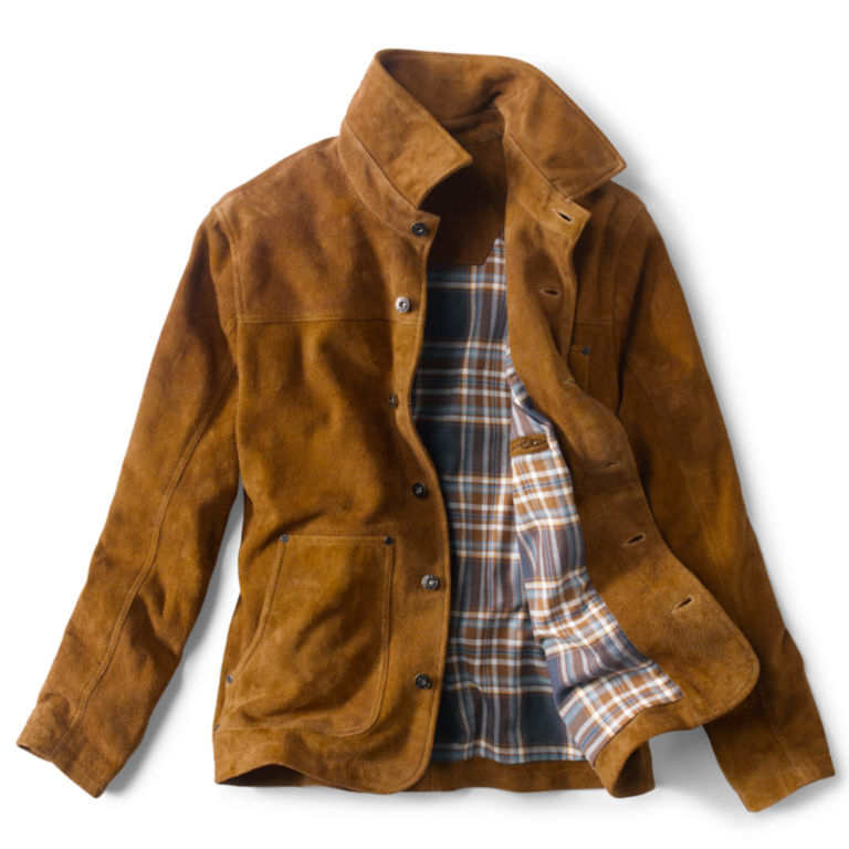 Rough Out Suede Jacket - CAMEL image number 1