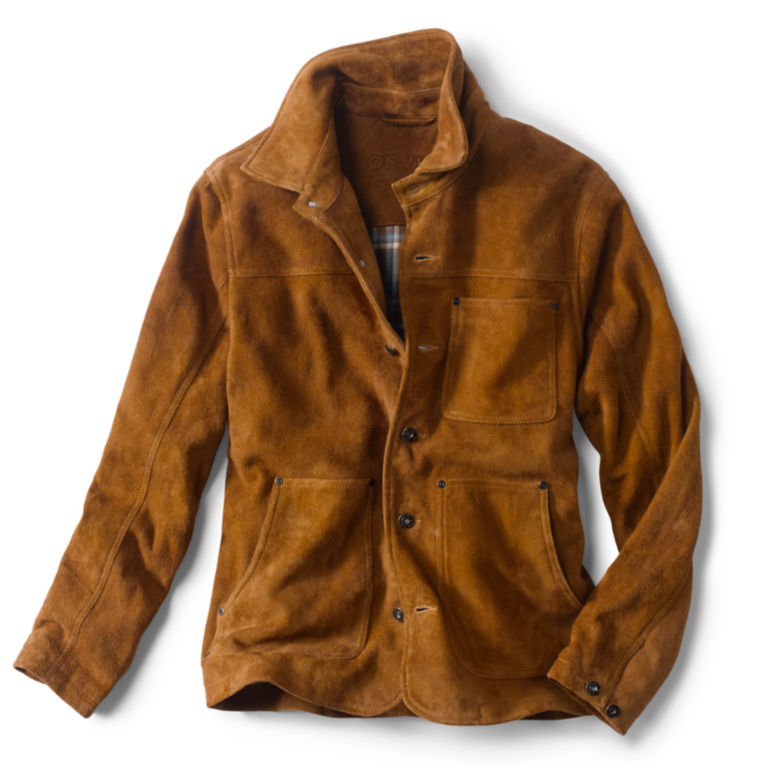 Rough Out Suede Jacket - CAMEL image number 0