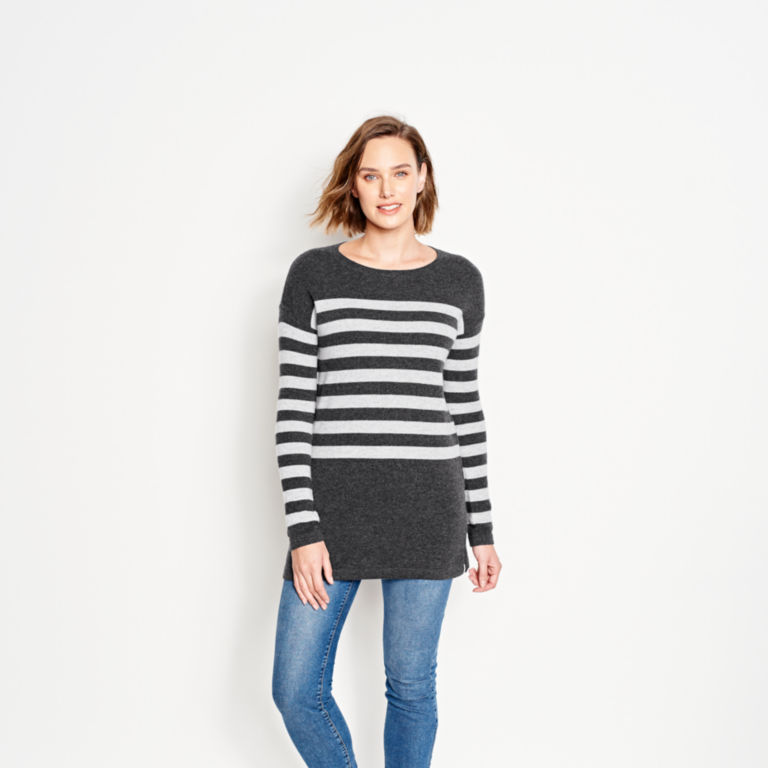 Striped Cashmere Sweater Tunic -  image number 1