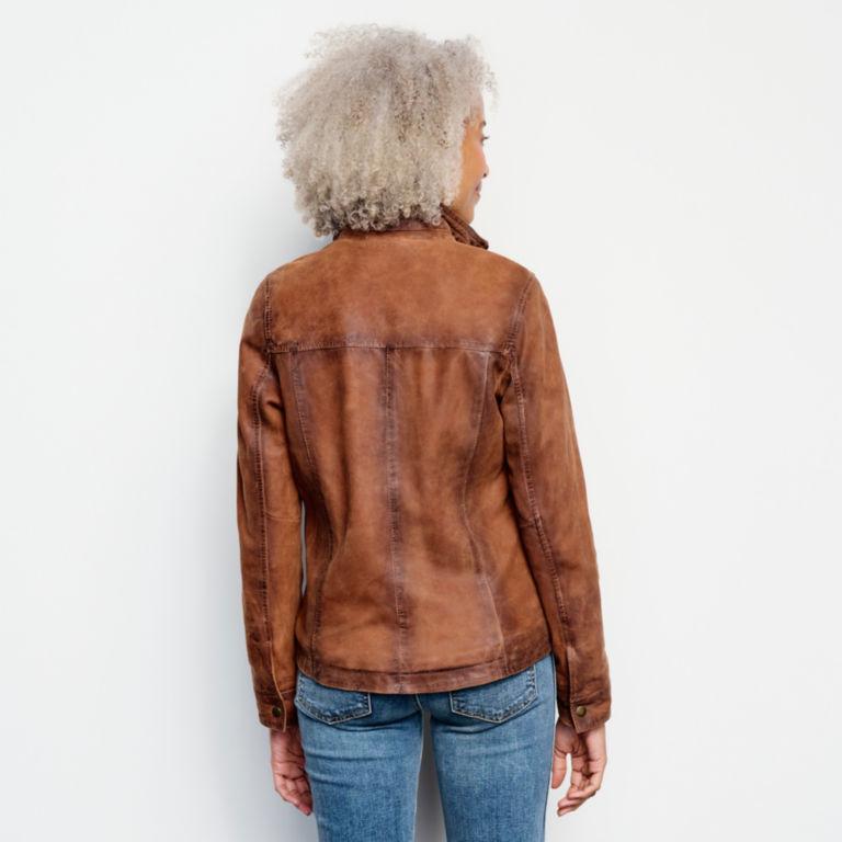 Latitude Leather Jacket - BRONZE image number 3